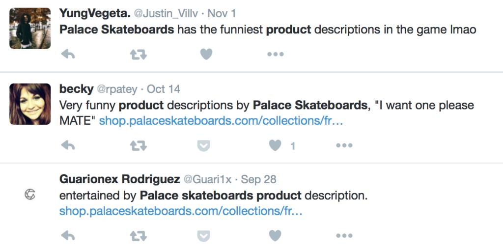 product descriptions social proof palace skateboards