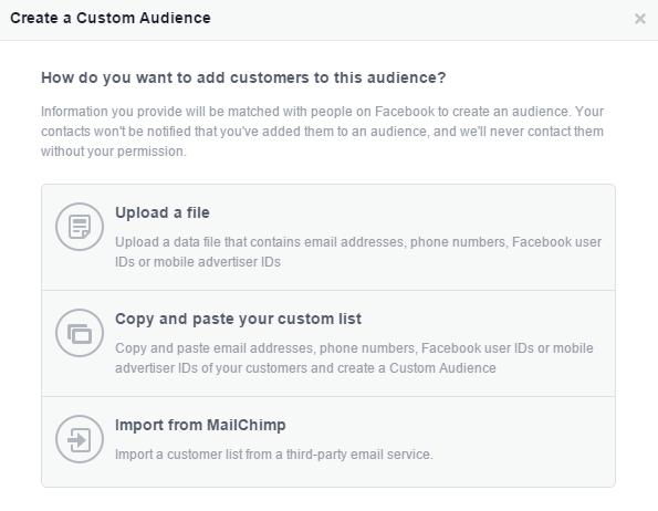 create a custom audience 2