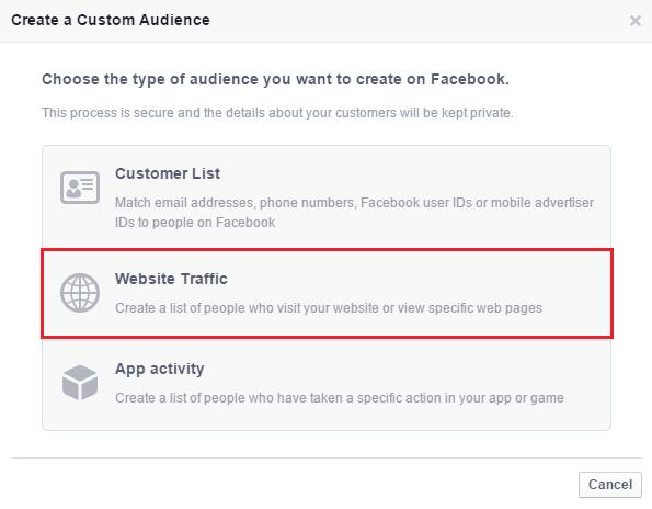 create a custom audience 3