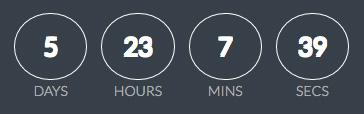 days hours mins secs
