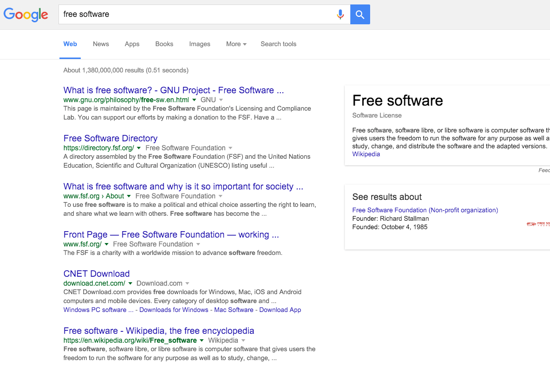 google free software