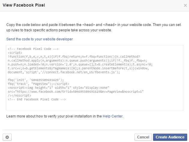 view facebook pixel
