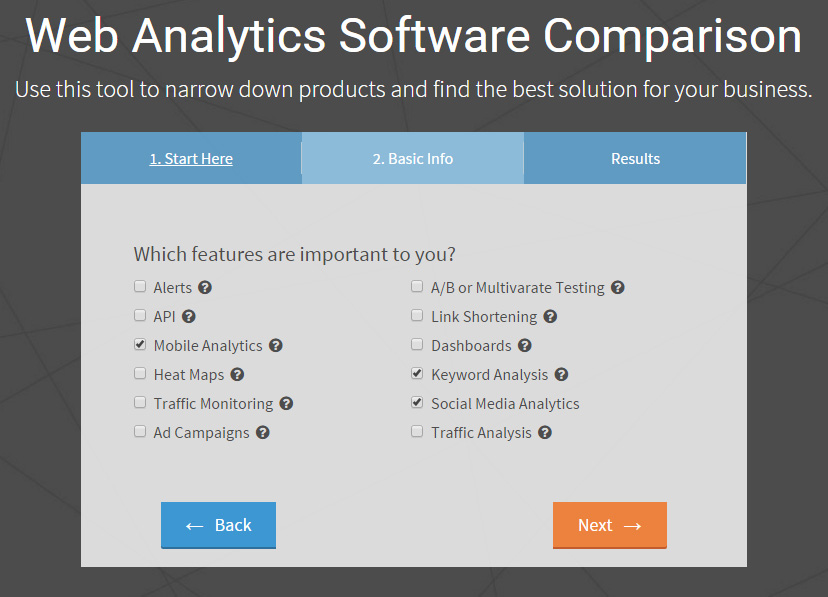 web analytics software