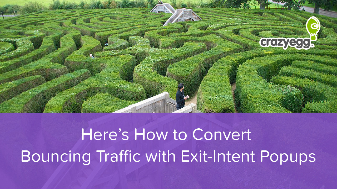 How to Convert Bouncing Traffic with Exit-Intent Popups