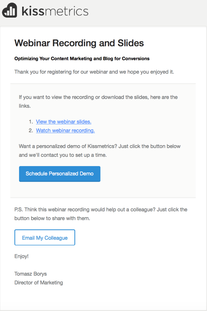 How to use a secondary CTA in email marketing