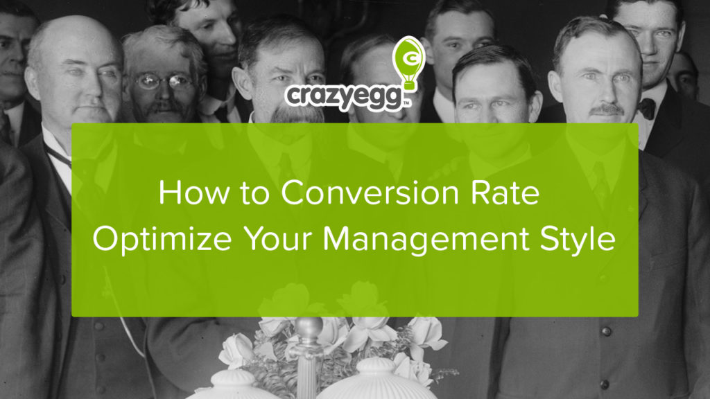 how to CRO your management