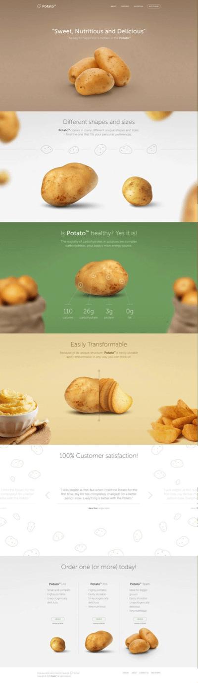 potato-landing-page