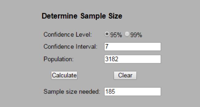 sample size calculator
