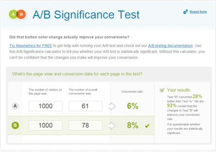 AB significance test