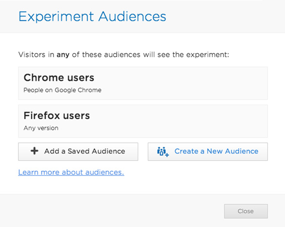 experiment audiences