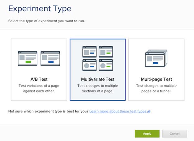 experiment type