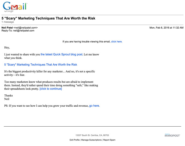 gmail marketing techniques