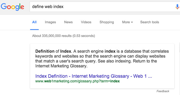 define web index