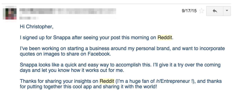 reddit emails