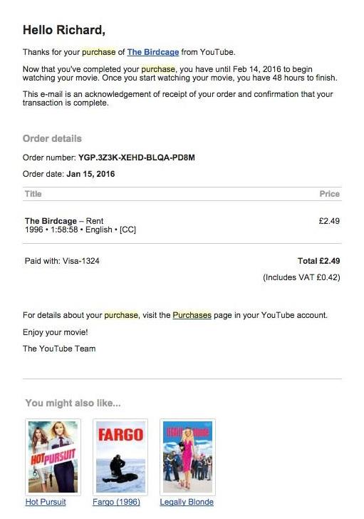 youtube purchase birdcage