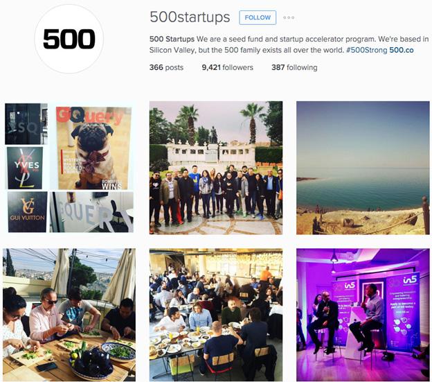 500 startups instagram