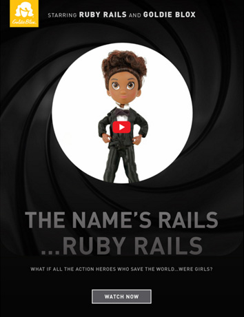 Ruby Rails Goldie Blox