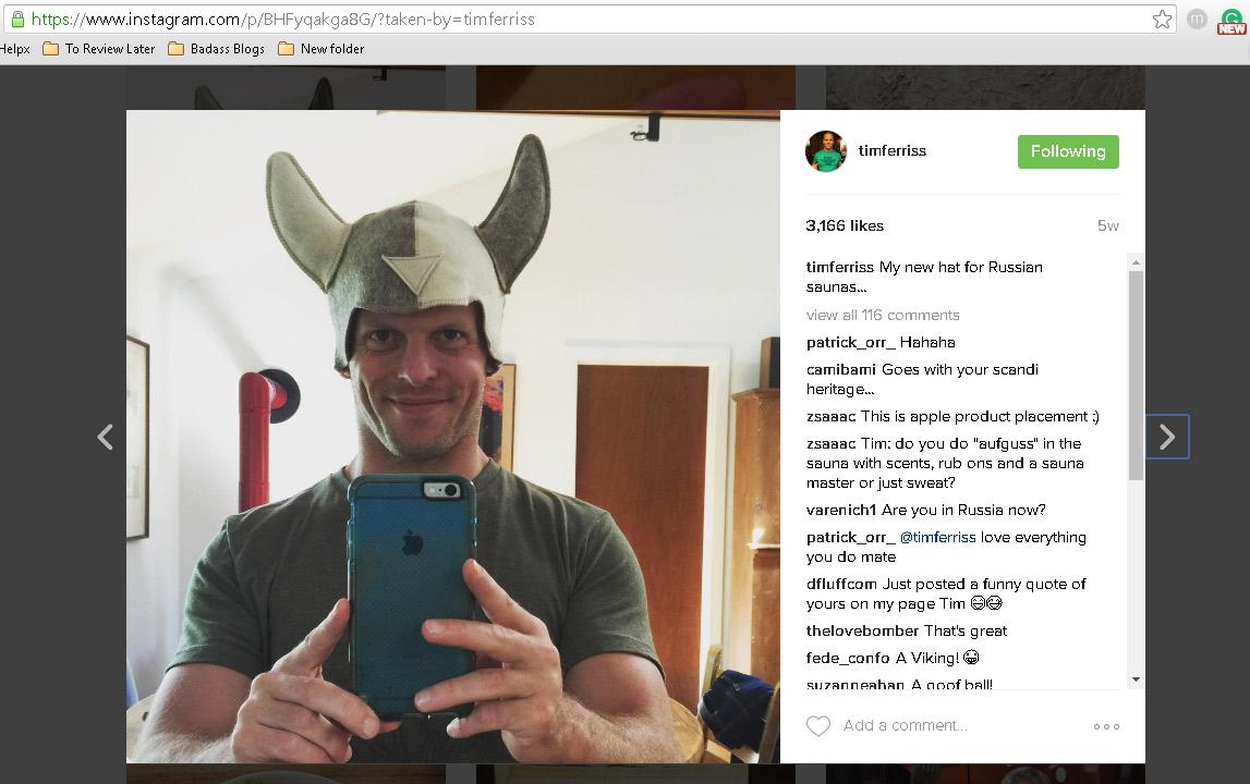 tim ferris instagram