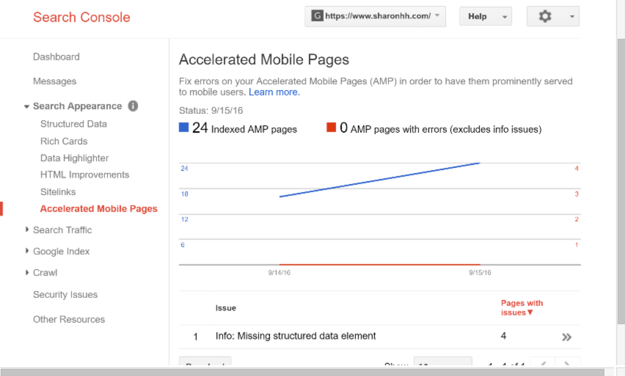 google-search-console-accelerated-mobile-pages