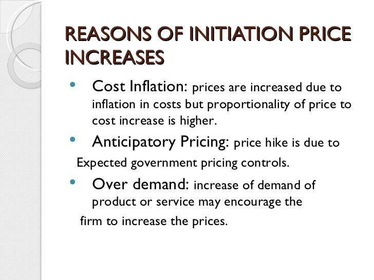 initiation price increase