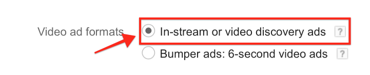 Instream or Video Discovery Ad