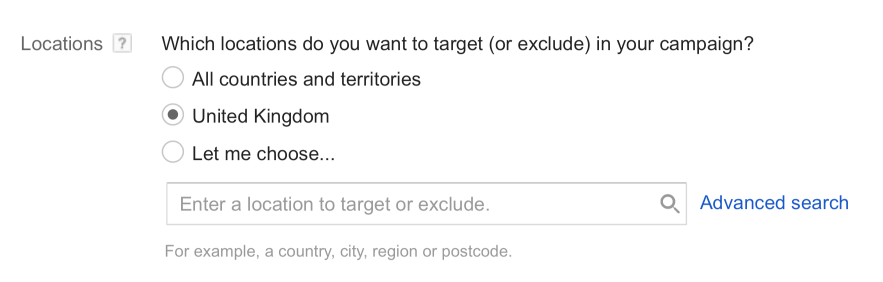 Select a Location