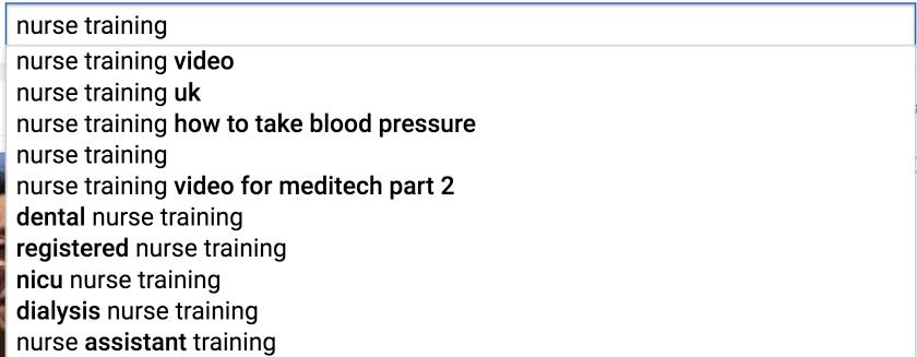 Keywords in YouTube