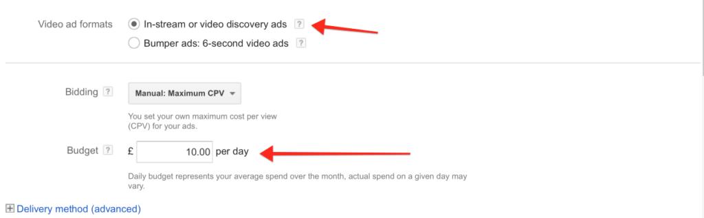 Video Ad Settings