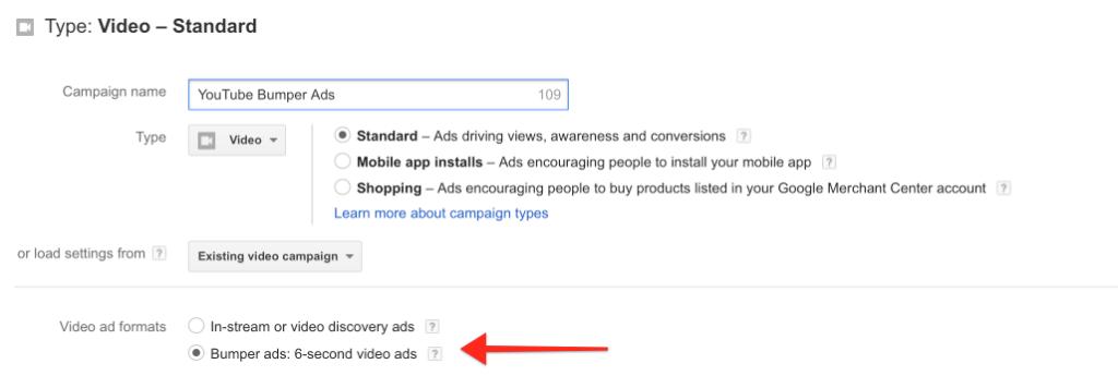 Select Bumper Ads