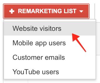 Click on Website Visitors