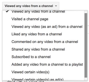 YouTube Remarketing Options