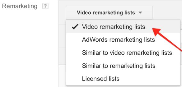 Click Video Remarketing Lists