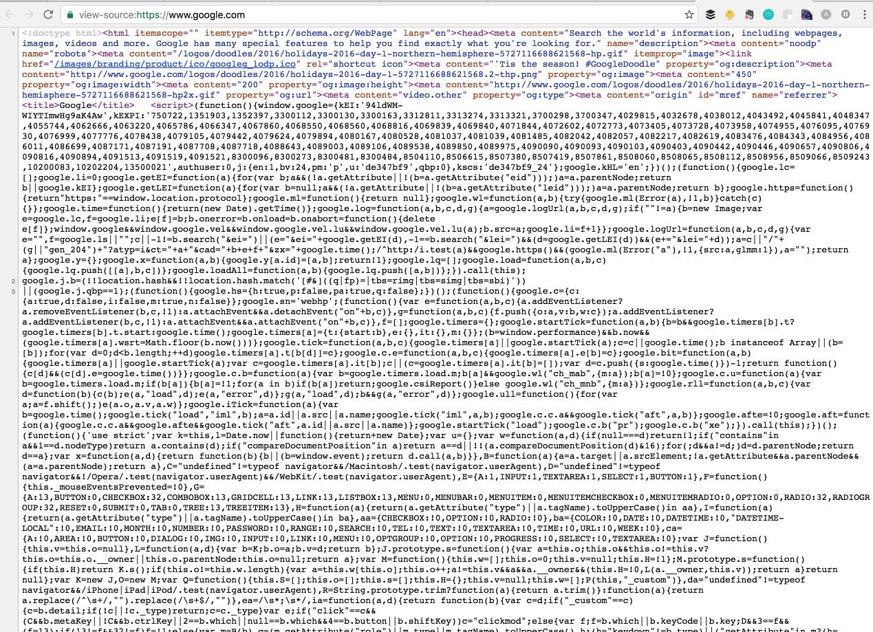 big block of source code