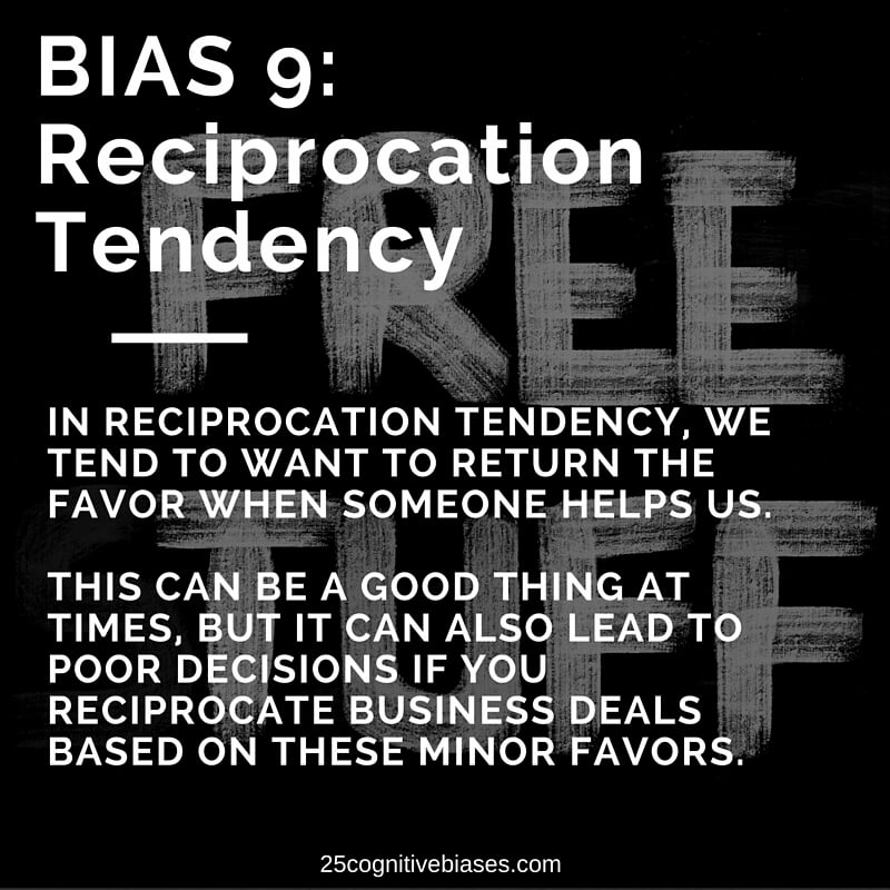 reciprocation tendency