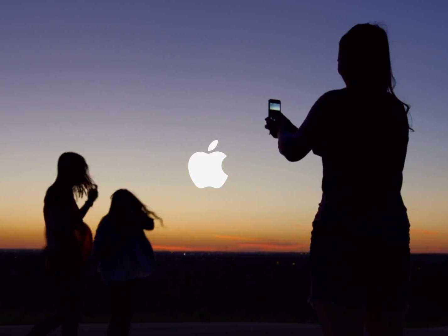 apple sunset photo