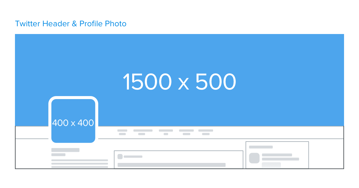 twitter header and profile photo image dimensions 2017