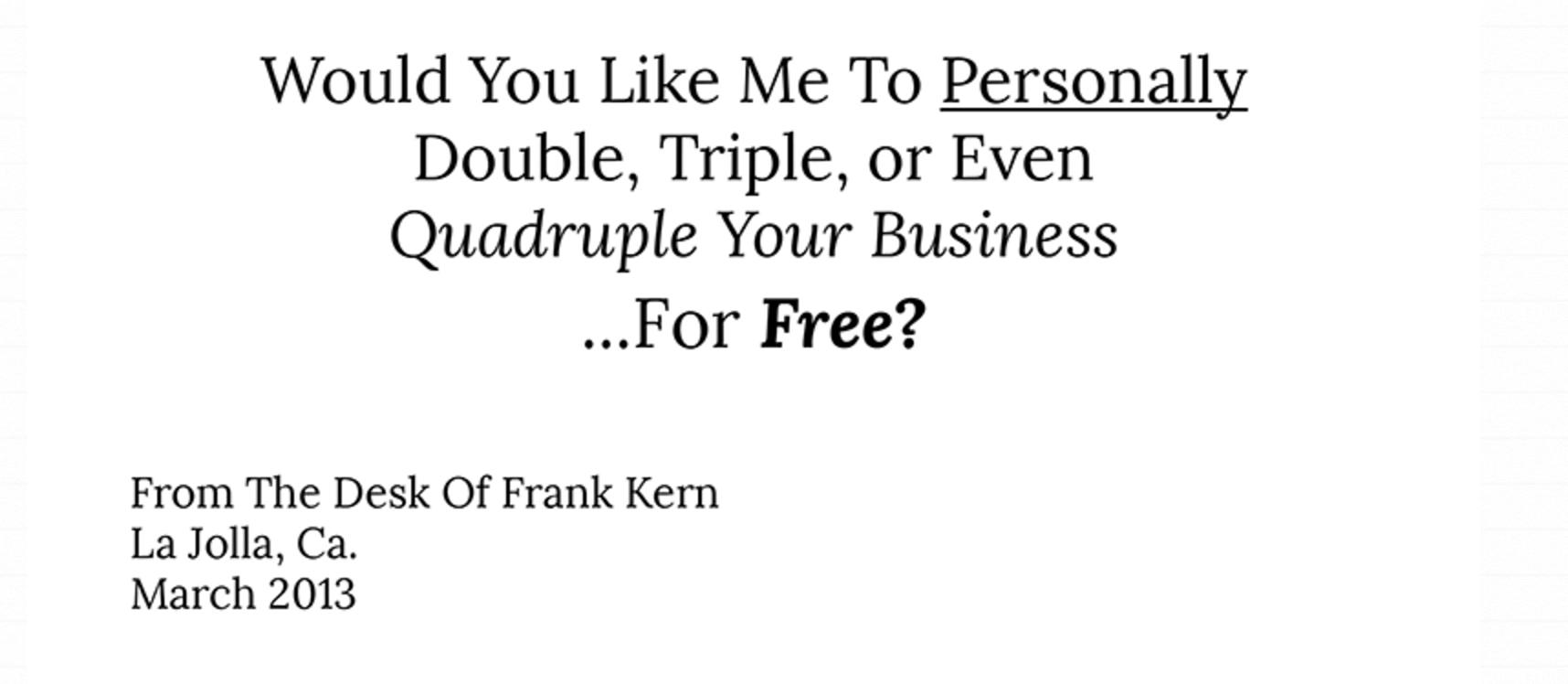 Quadruple business