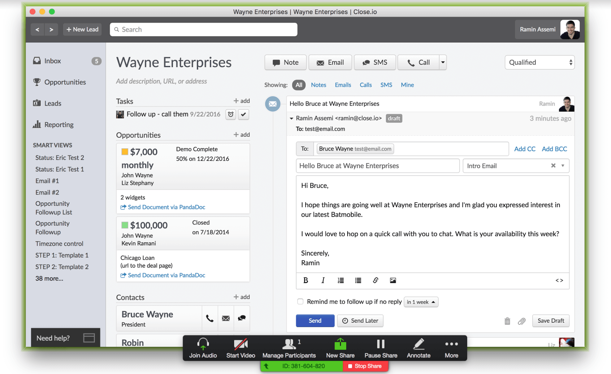 Wayne enterprises live demo