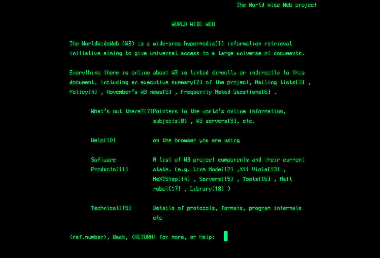Old School World Wide Web