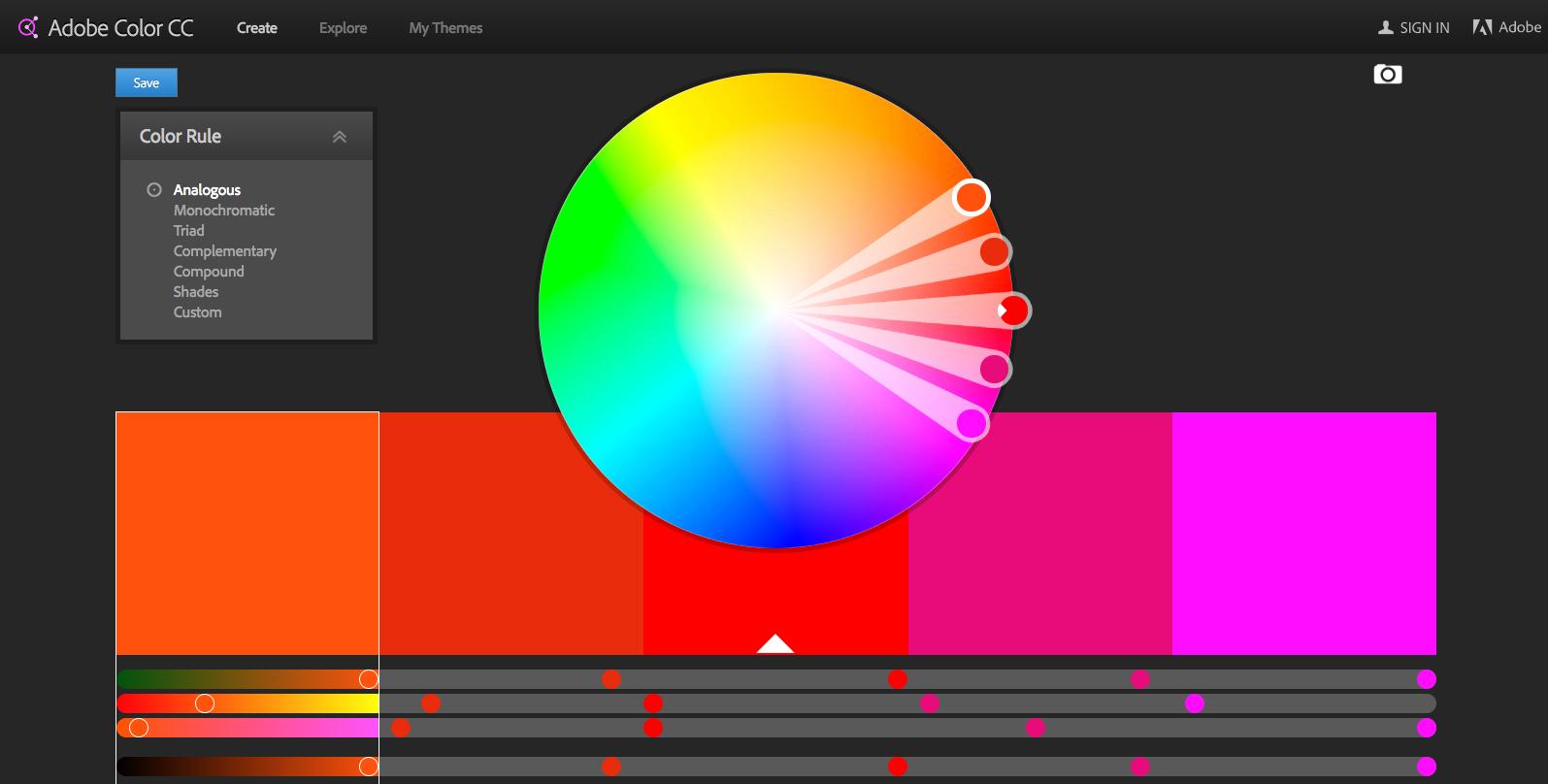 Adobe Color CC Color Wheel