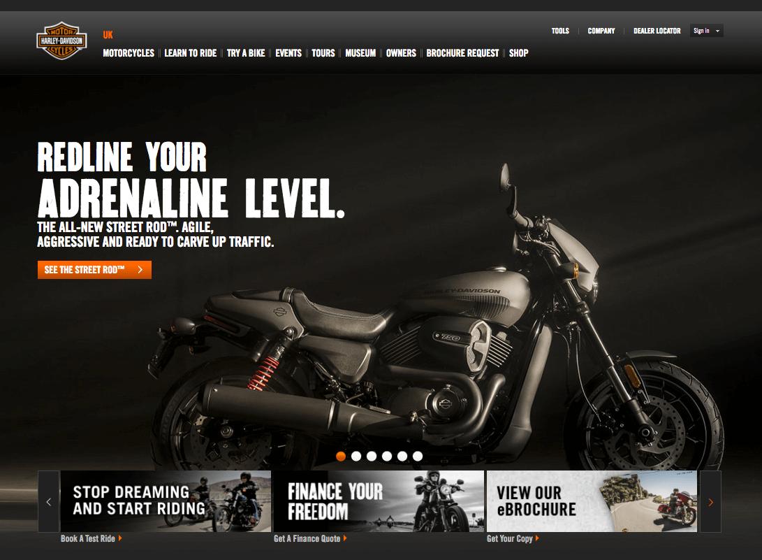 Harley Davidson screenshot
