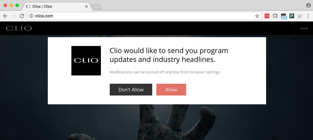clio web push