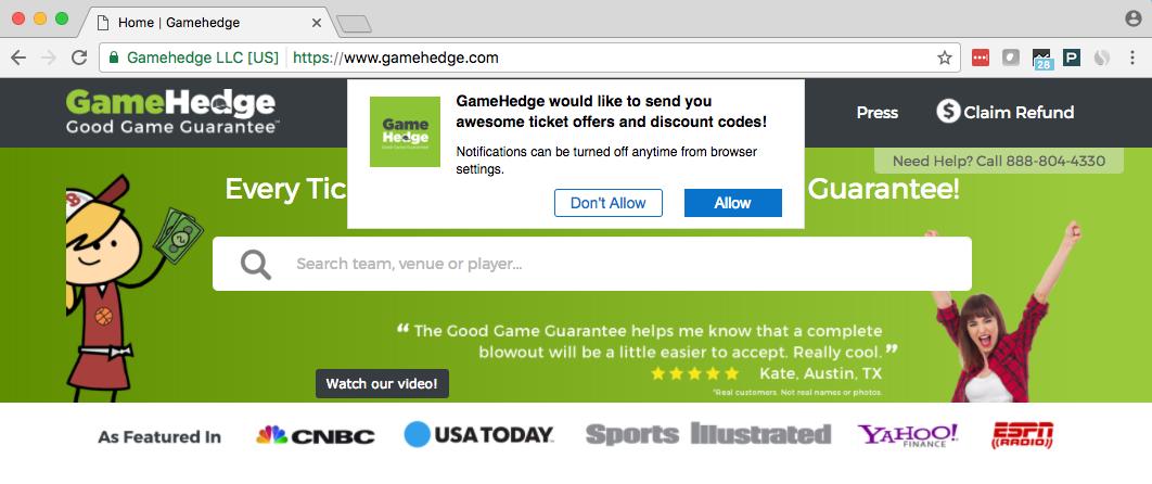 gamehedge web push