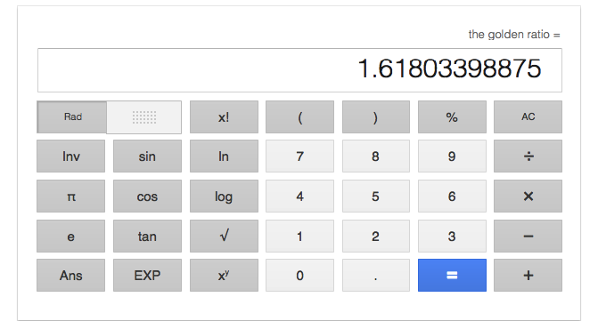 The Golden Ratio Calculator