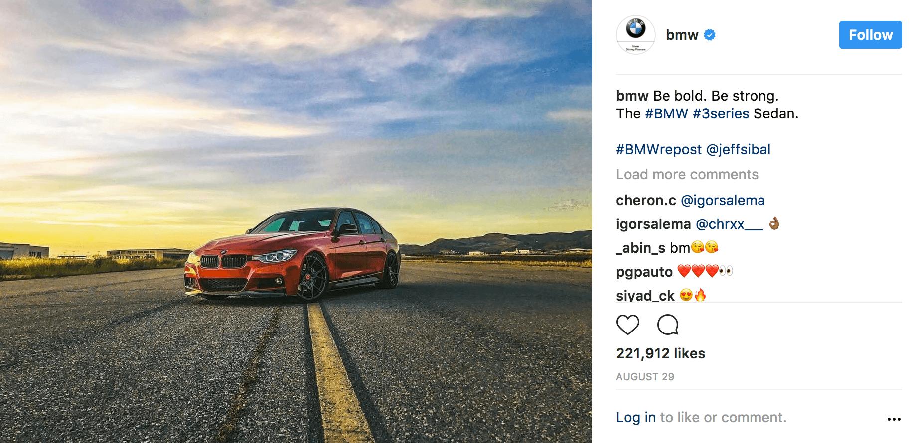 BMW Instagram Ad