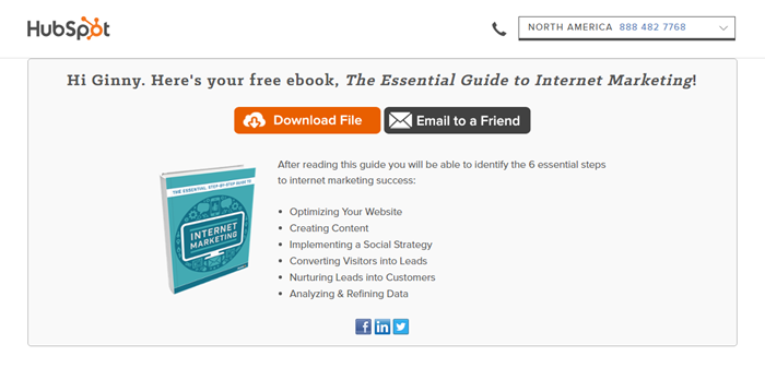 Free ebook Hubspot