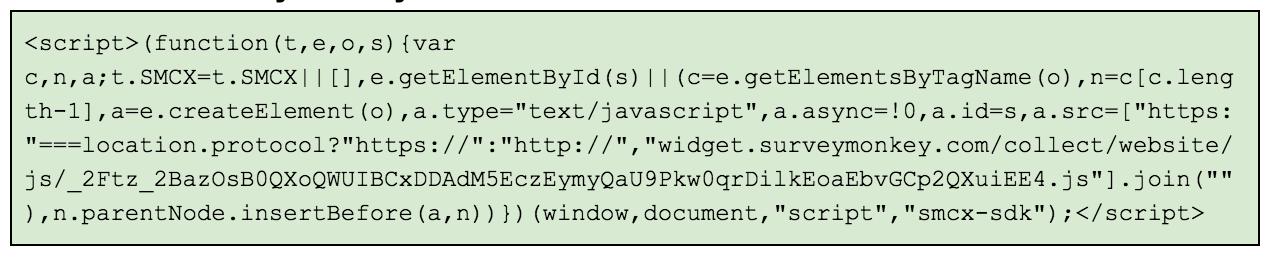 Survey Monkey embed code