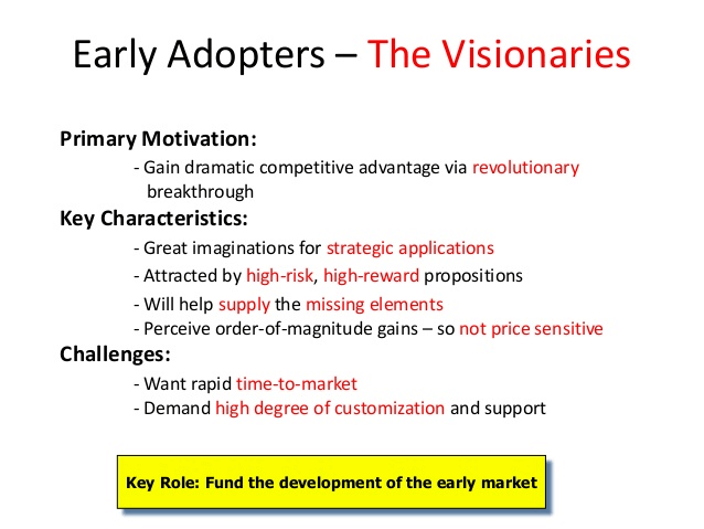 Early adopters the visionaries