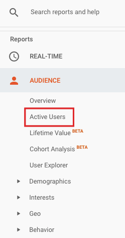 active users