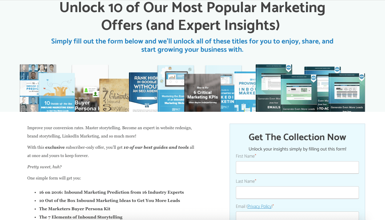 unlock our most popular marketing offers